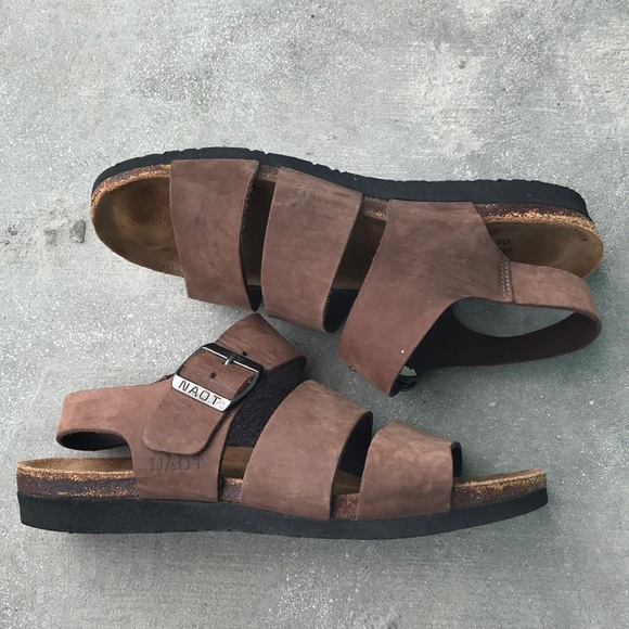 95a82d4c6dbe Naot Shoes - Naot LeAther Sandals Size 39 Brown